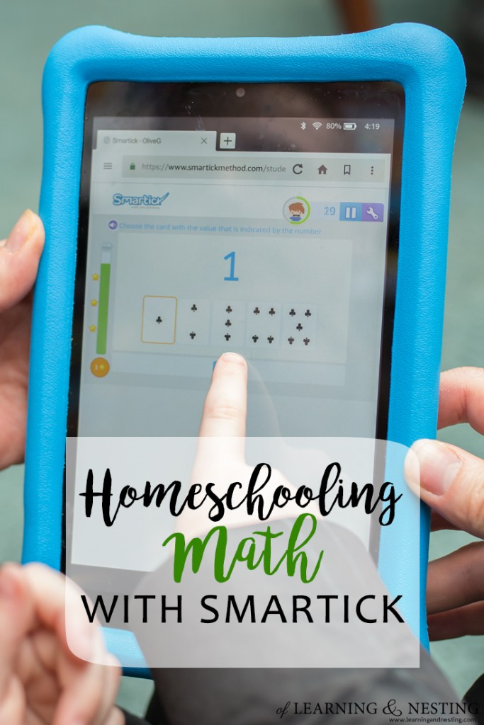 Homeschool Math with Smartick - Using an app to help kids with their math - of Learning and Nesting