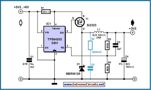 Step-Down Converter Controller Circuit Diagram