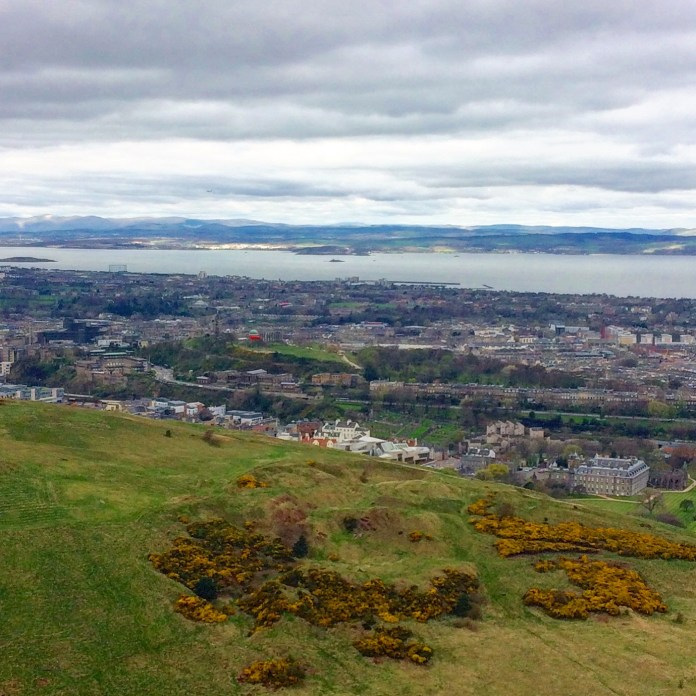 Overlooking the port town of Leith