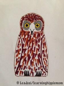 InkTober Day 4: Matryoshka Owl
