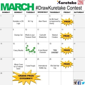 March Draw Kuretake Contest Calendar