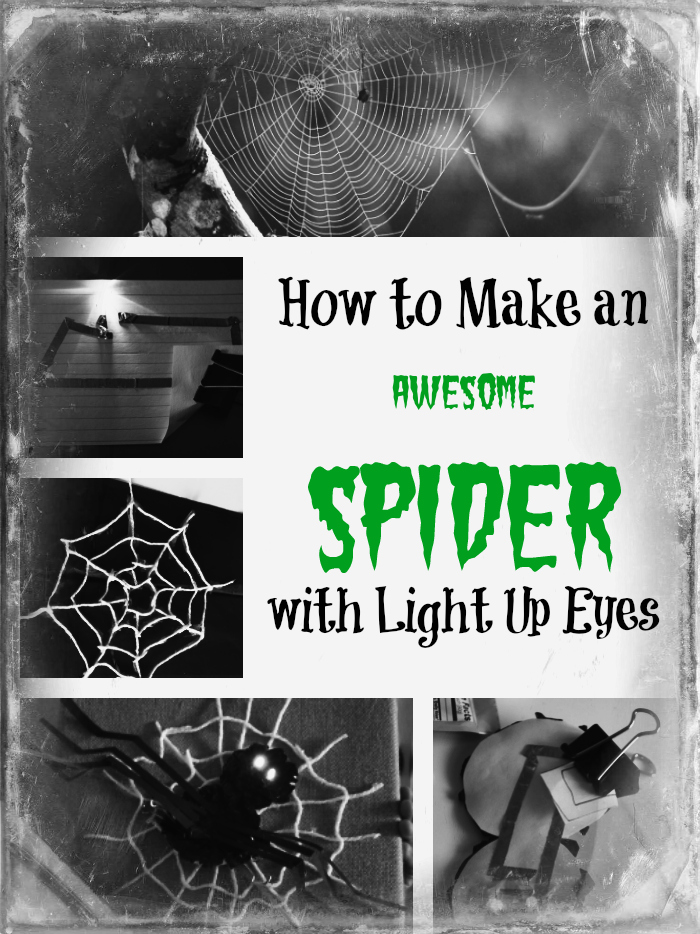 how to make a spider with light up eyes