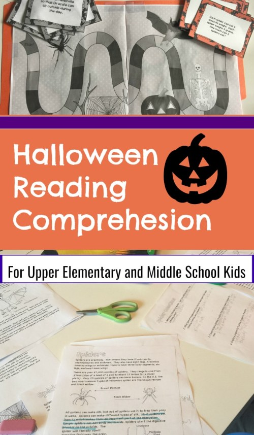 Halloween Reading Comprehension: Informational Texts and Fiction Strategies