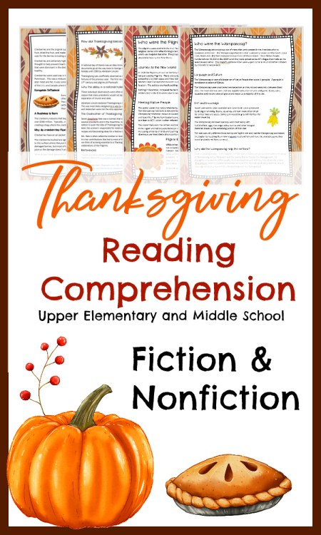 Thanksgiving Reading Comprehension
