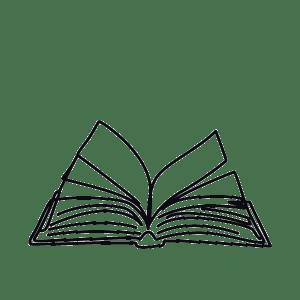 Sketch of open book.