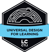 Universal Design for Learning Micro-credential Badge