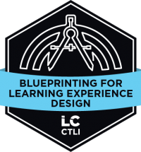 Blueprinting for Learning Experience Design course badge