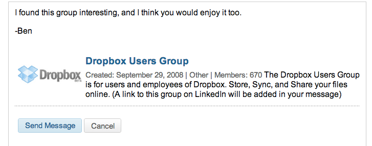 How to invite someone to a group in LinkedIn via a link