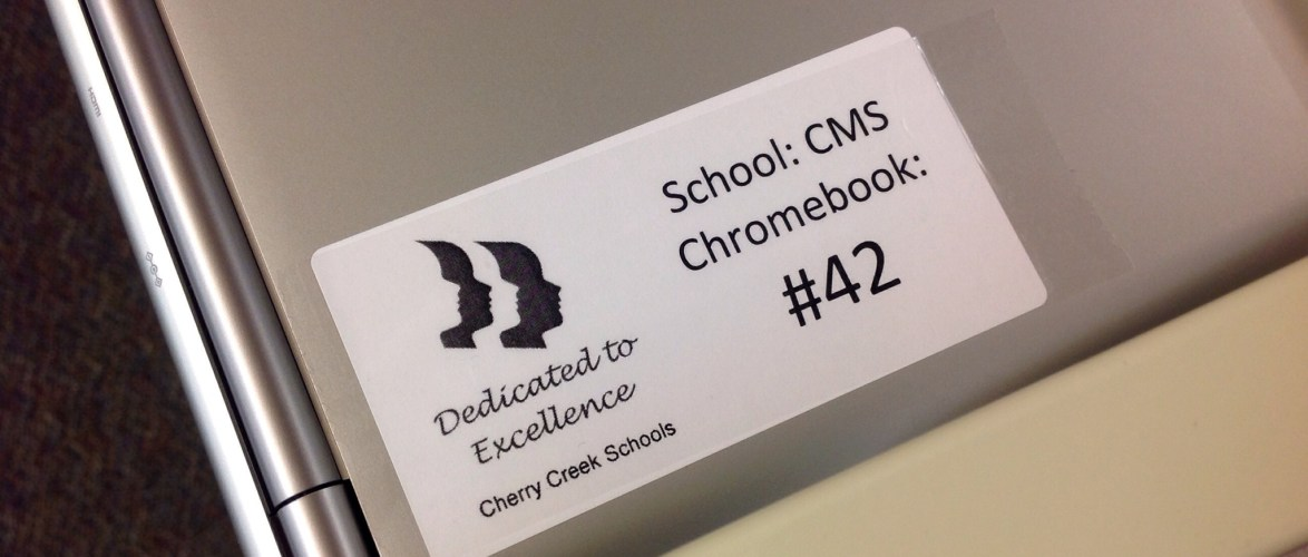 This is what the Cherry Creek Rollout of Chromebooks looks like.