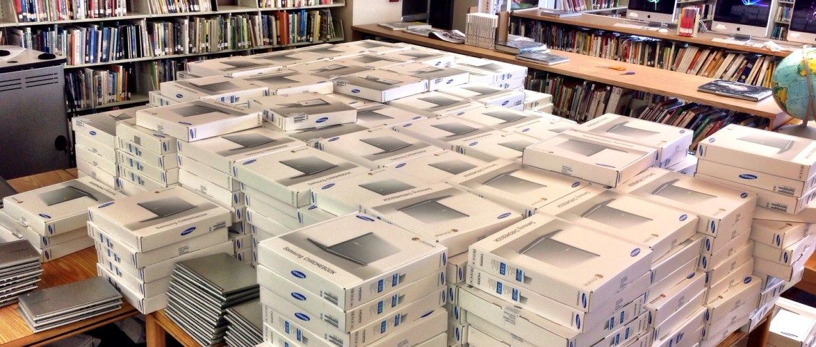 We will have a lot of chromebooks in DPS by the end of the year, but this is what 18,000 looks like in Cherry Creek.