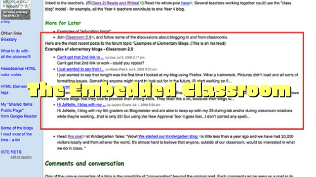 The Embedded Classroom