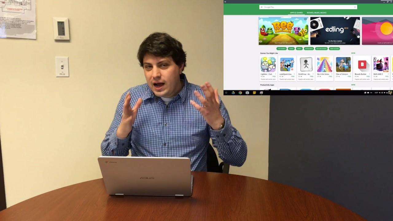New Asus Chromebook Flip C302C: Google Play Store (beta) Experience