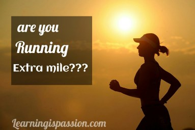 running the extra mile