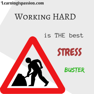 working Hard is best Stress buster as lack of it causes stress