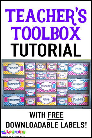 Stay organized with this teacher's toolbox tutorial! Grab your free labels to create your own!