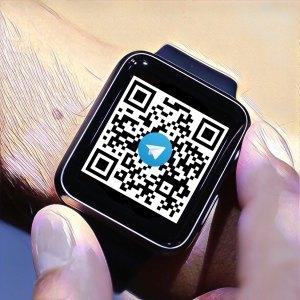 Ejemplo código QR con enlace a chat Telegram