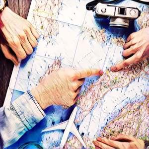 Decidiendo itinerario del viaje