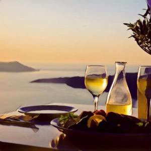 Cena con vistas al mar