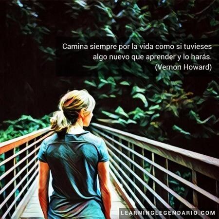 Camina siempre por la vida como si tuvieses algo nuevo que aprender y lo harás. Vernon Howard.
