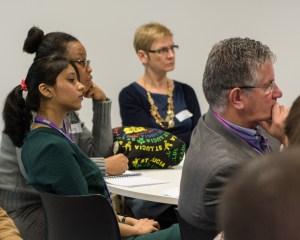 Delegates listening