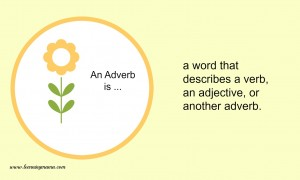 Parts of speech print - adverb FREE Printables