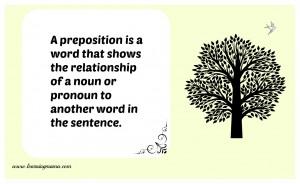 Parts of speech print - preposition FREE Printables