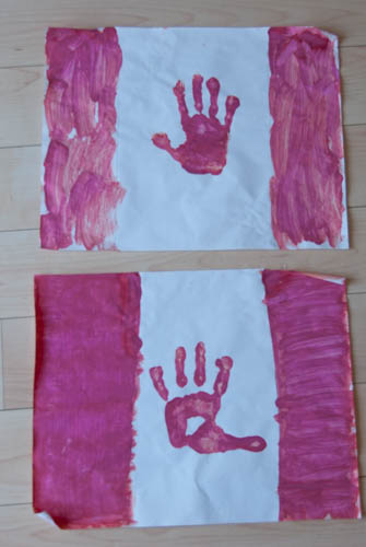 Celebrate Canada with handprint Canadian flags!