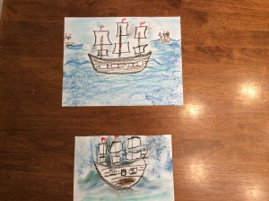 Hodgepodge - a great site full of free chalk art tutorials (COLUMBUS SAILED THE OCEAN BLUE)