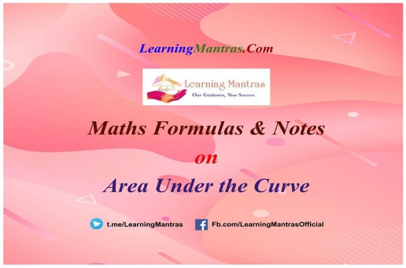 Area Under the Curve Notes PDF