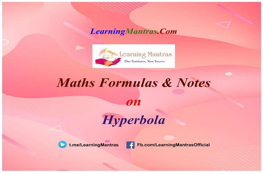 Hyperbola Notes PDF