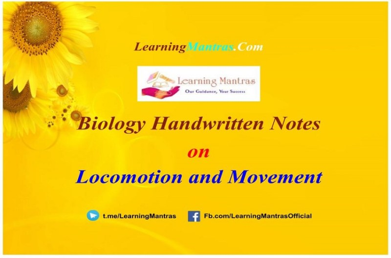 Locomotion and Movement Handwritten Notes PDF