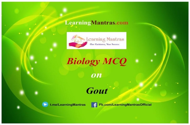MCQ on Gout