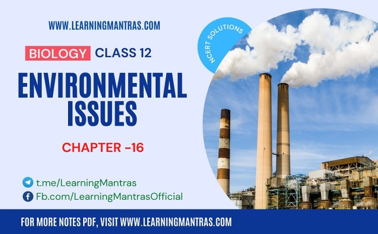 NCERT Solutions for Environmental Issues – Biology Class 12 Chapter 16 – Download PDF