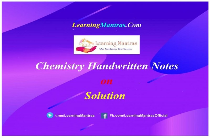 Solution Handwritten Notes PDF