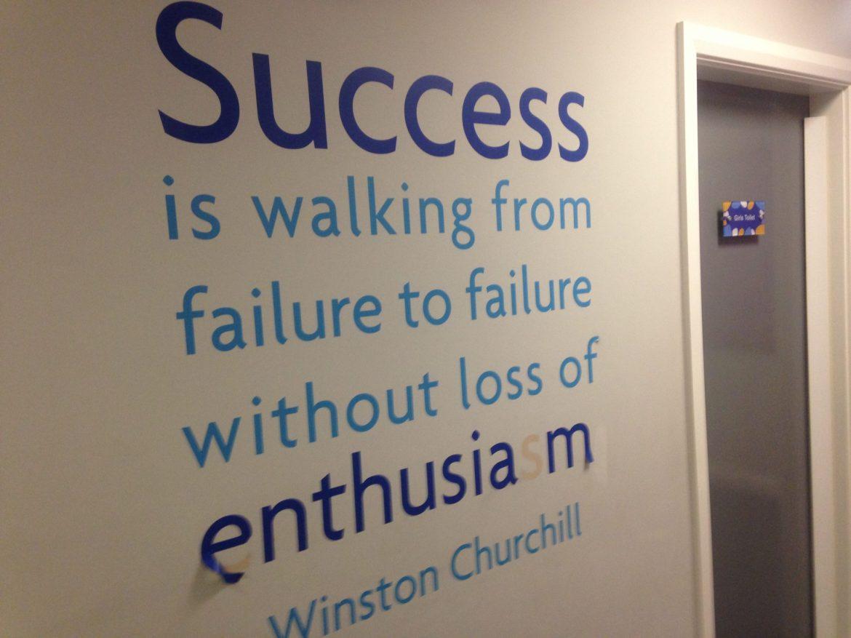 Winston Churchill quote on failure.