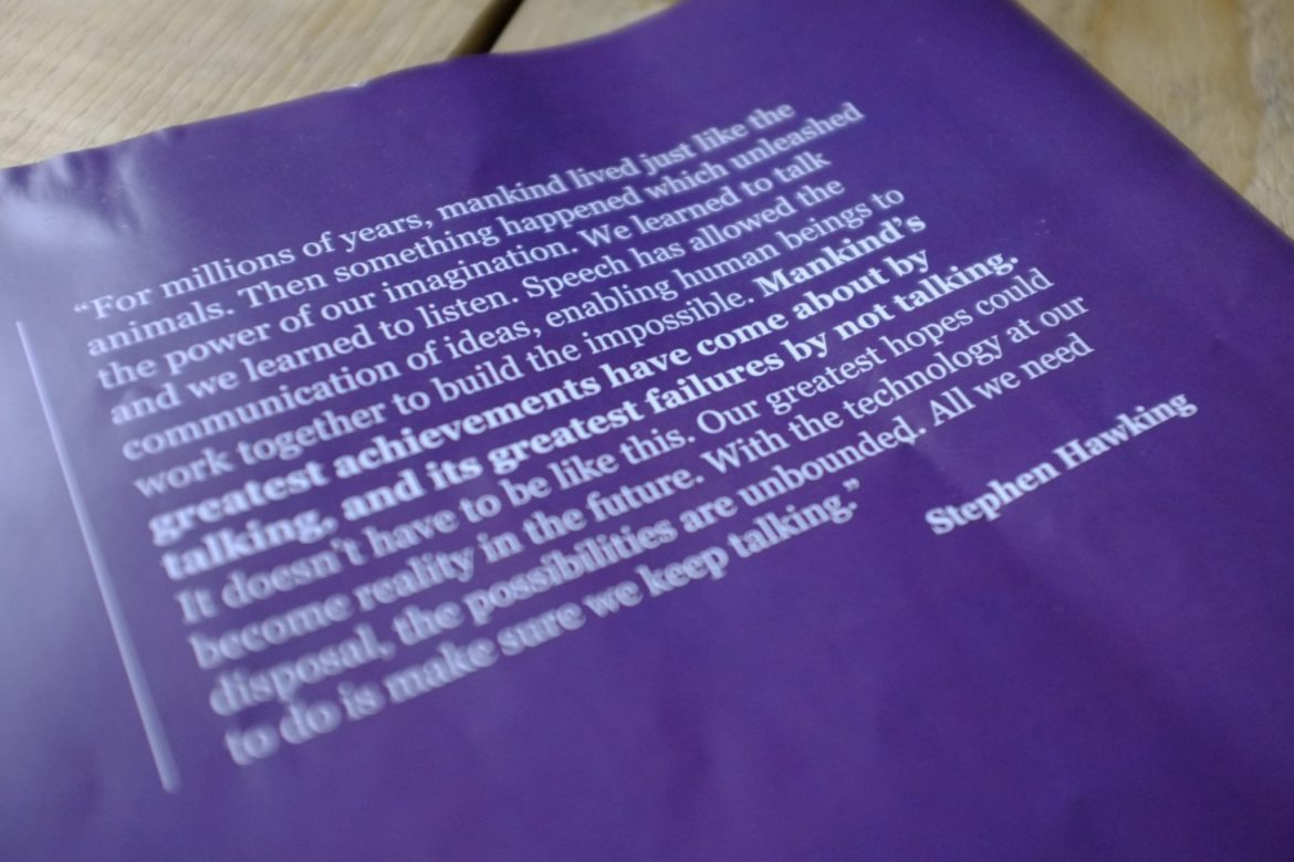 Quote from handout at Great Oracy Exhibition.