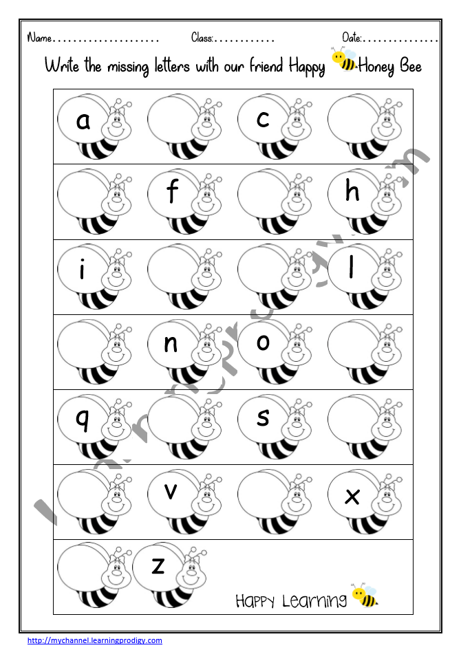 Missing Letters Worksheet English Alphabet Missing Letters English  Worksheet For Kids LearningProdigy English, English Alphabets Rainbow  Tracing, English Alphabets-Missing Letters, English-K, English-N, Subjects |