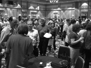 Where there's a crowd, there's a free bar. DevLearn Las Vegas 2014