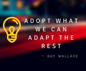 Adopt what we can - Adapt the rest