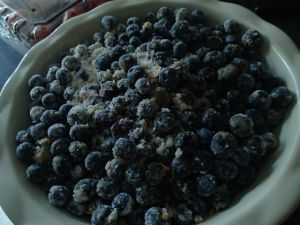 Blueberry Crumble (an Easy to Make Recipe) - Filling