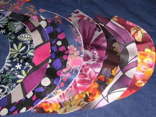 All 8 silky fabrics (necklines)