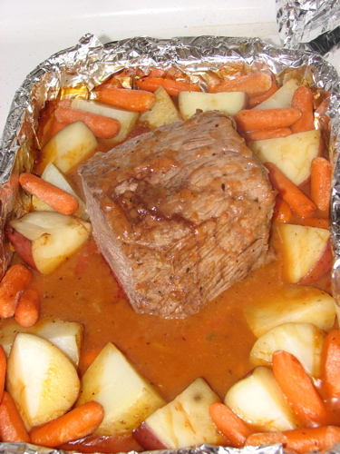 Delicious, cooked beef roast
