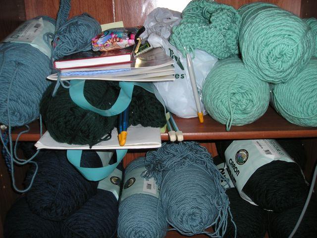 knitting shelf before
