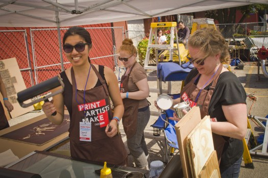 Steamroller Printing at Maker Faire