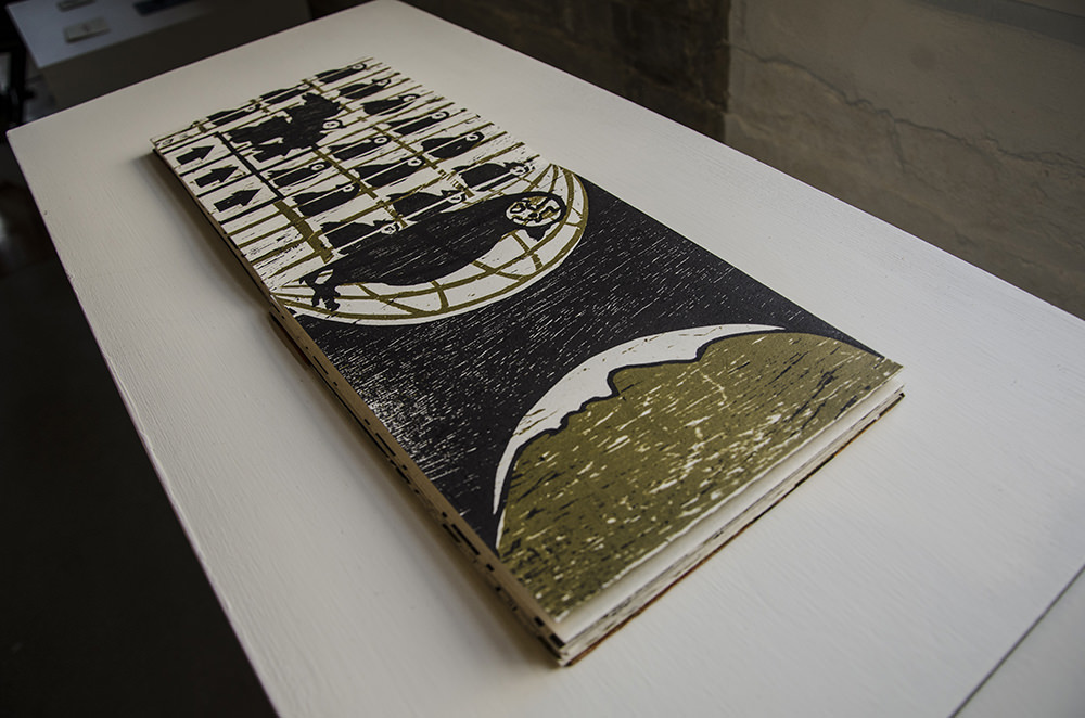 """""""The Golden Cage,"""" artist's book by Jenie Gao"""