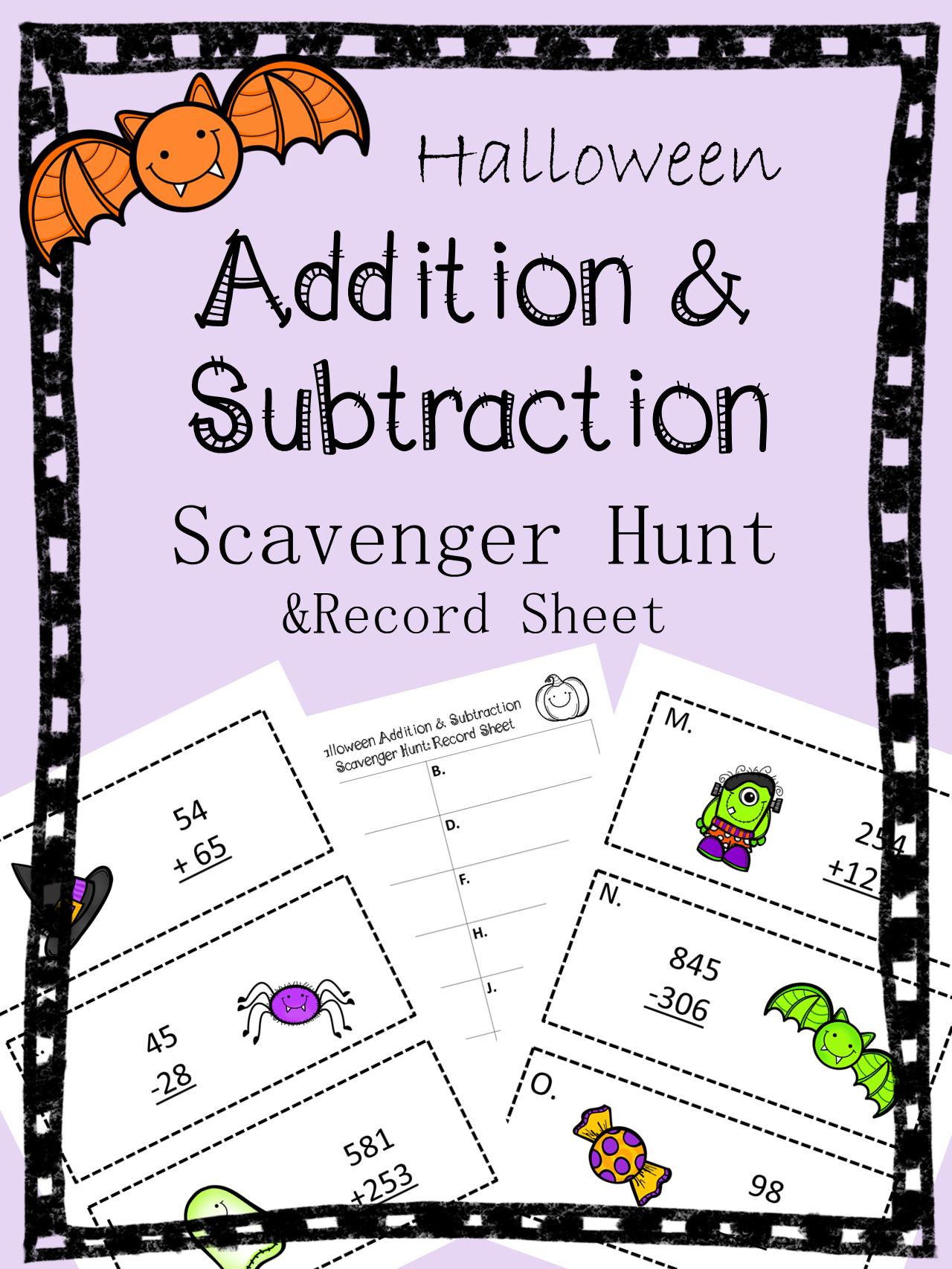 Make A Math Scavenger Hunt