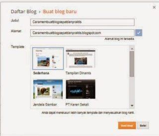 cara memberi nama blog di blogspot