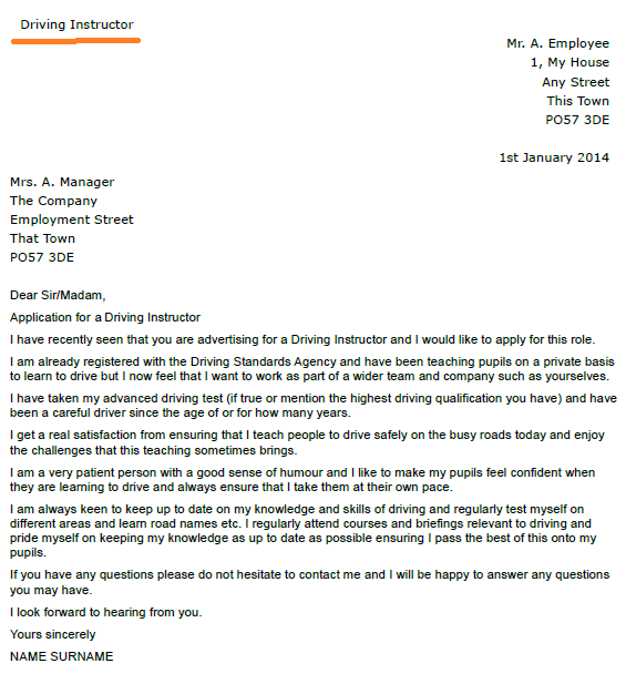 cover letter for job application cover letter examples ...