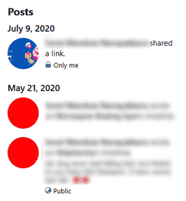 Facebook posts created specific date