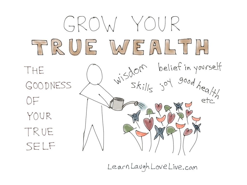 Concepts Mission True Wealth LRN LAF LUV LIV LYF Learn Laugh Love Live Life